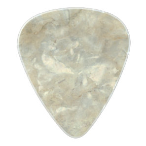 Tawny Gold Streaked marble stone finish Pearl Celluloid Guitar Pick