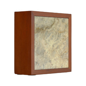 Tawny Gold Streaked marble stone finish Pencil Holder