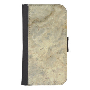 Tawny Gold Streaked marble stone finish Samsung S4 Wallet Case