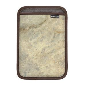 Tawny Gold Streaked marble stone finish Sleeve For iPad Mini