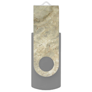 Tawny Gold Streaked marble stone finish USB Flash Drive