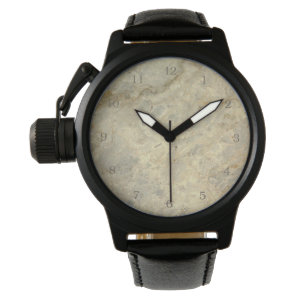 Tawny Gold Streaked marble stone finish Watch