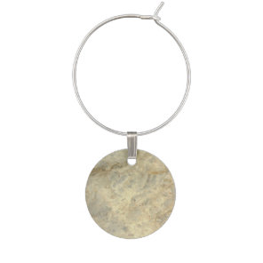 Tawny Gold Streaked marble stone finish Wine Glass Charm