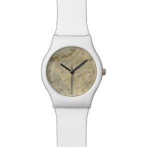Tawny Gold Streaked marble stone finish Wrist Watch