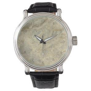 Tawny Gold Streaked marble stone finish Wristwatch