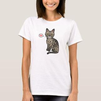 Tawny Ocicat Cat Love T-Shirt