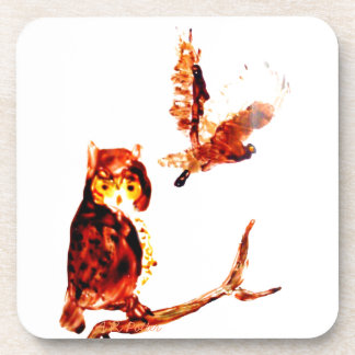 Tawny Owl Art Beverage Coaster