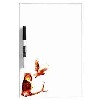 Tawny Owl Art Dry Erase Board