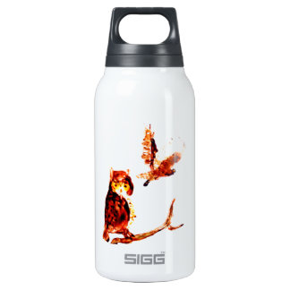 Tawny Owl Art Insulated Water Bottle