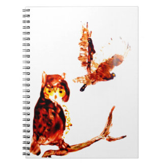 Tawny Owl Art Spiral Notebook