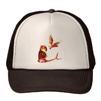 Tawny Owl Art Trucker Hat