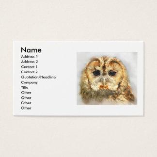 Tawny Owl, Business Card
