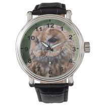 """Tawny Owl"" design wrist watch"