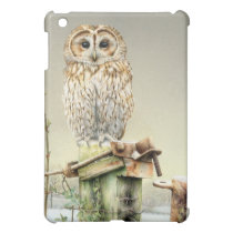 Tawny Owl in the snow fine art ipad mini case