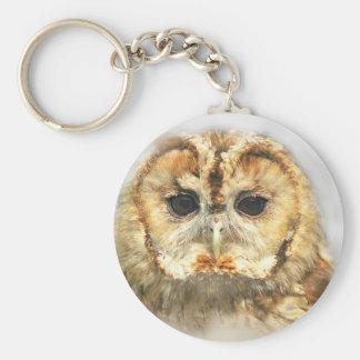 Tawny Owl Keychain