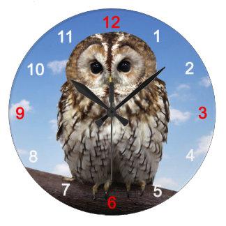 Tawny Owl Large Clock