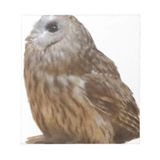 Tawny Owl Pattern item Notepad