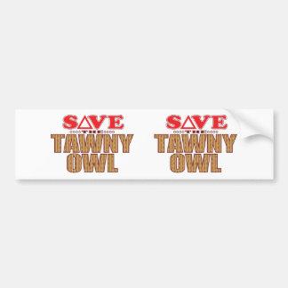 Tawny Owl Save Bumper Sticker
