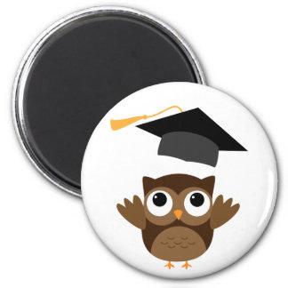 Tawny Owl Throwing Its Graduation Cap Magnet