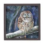 Tawny Owl watercolor painting Premium Keepsake Box