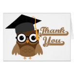 Tawny Owl with Glasses Graduation Thank You Card