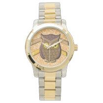 Tawny Owl Wrist Watch