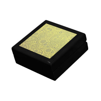 Tawny Paisley on yellow background Gift Box