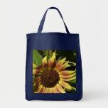 Tawny Pink Sunflower Canvas Bag