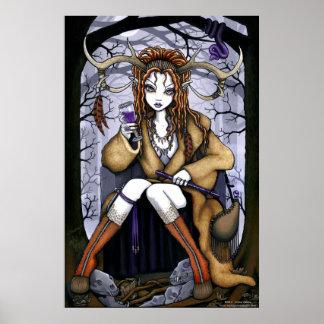 """Tawny"" Therianthrope Nature Spirit Fae Poster"
