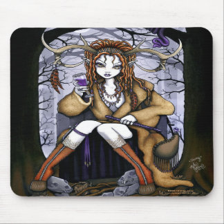 Tawny Therianthrope Nature Spirit Fairy Mousepad
