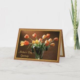 Tawny Tulips zazzle_card