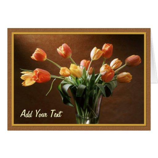 Tawny Tulips - Customize Card