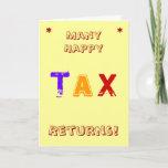 Tax Accountant | CPA | Birthday | Tax Pun Joke Card