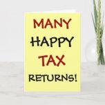 Tax Accountant | CPA | Thank You | Tax Returns Pun