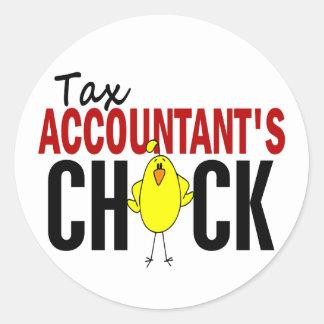Tax Accountant's Chick Classic Round Sticker