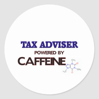 Tax Adviser Powered by caffeine Sticker