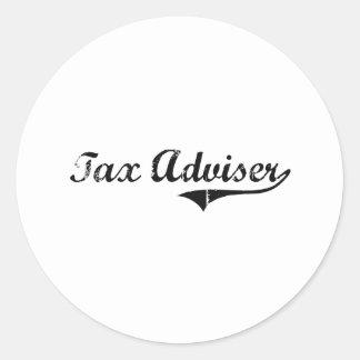 Tax Adviser Professional Job Round Sticker