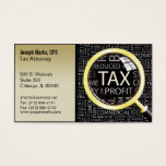 Tax Attorney Cpa Business Card at Zazzle