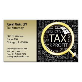 tax attorney cpa business card