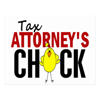 Tax Attorney's Chick Postcard