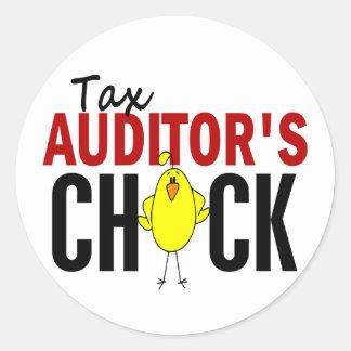 Tax Auditor's Chick Round Sticker