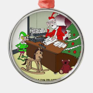 Tax Cartoon 9532 Metal Ornament