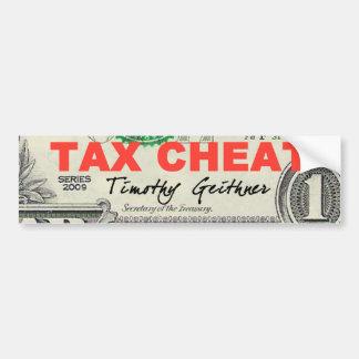 Tax Cheat Bumper Stickers