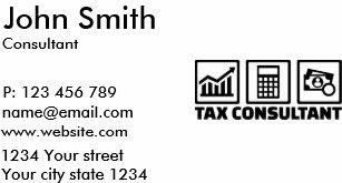 Tax calculator business cards zazzle tax consultant business card colourmoves