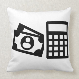 Tax consultant calculator throw pillow