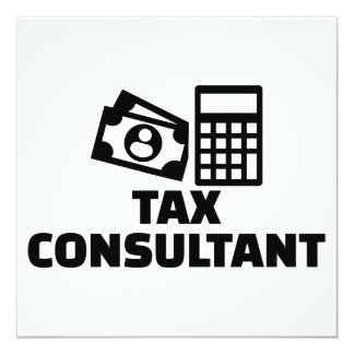 Tax consultant card