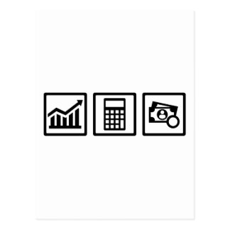 Tax consultant icons postcard
