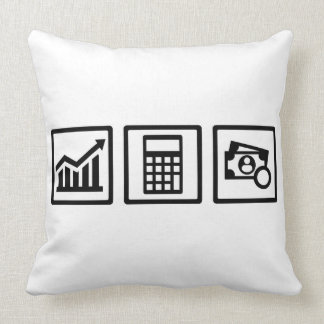 Tax consultant icons throw pillow