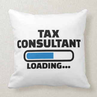 Tax consultant loading throw pillow