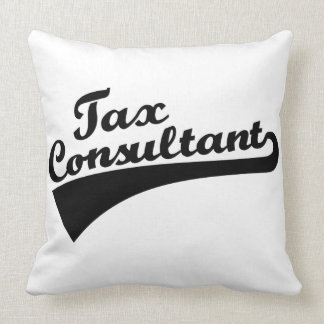 Tax consultant throw pillow